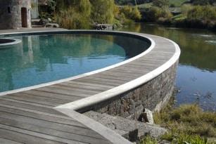 elliptical pool coping