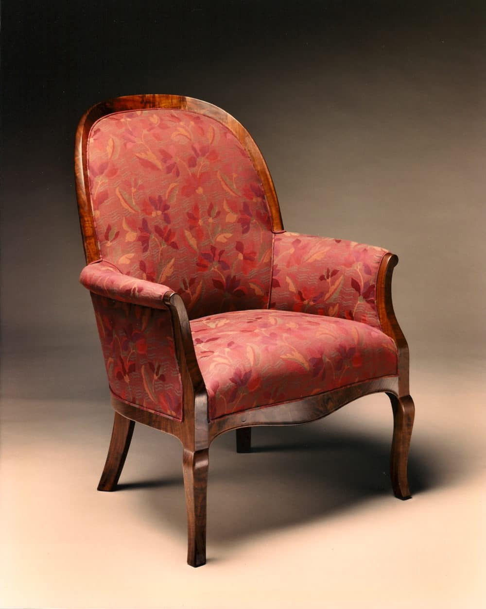 Gregory Hay Designs Bergere Chair in Claro Walnut