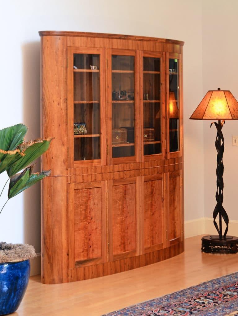 Gregory Hay Designs Elliptical Cabinet in Black Acacia