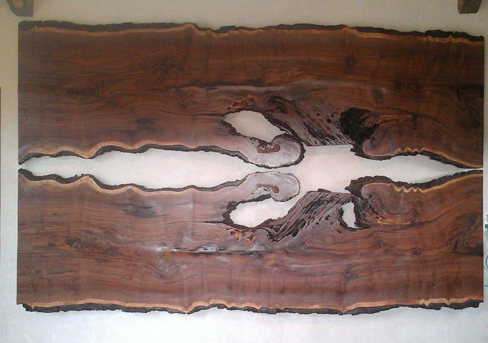 Gregory Hay Designs Walnut Slab Headboard
