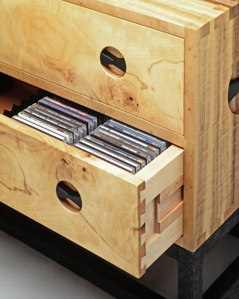 CD Cabinet in Bay Laurel Detail