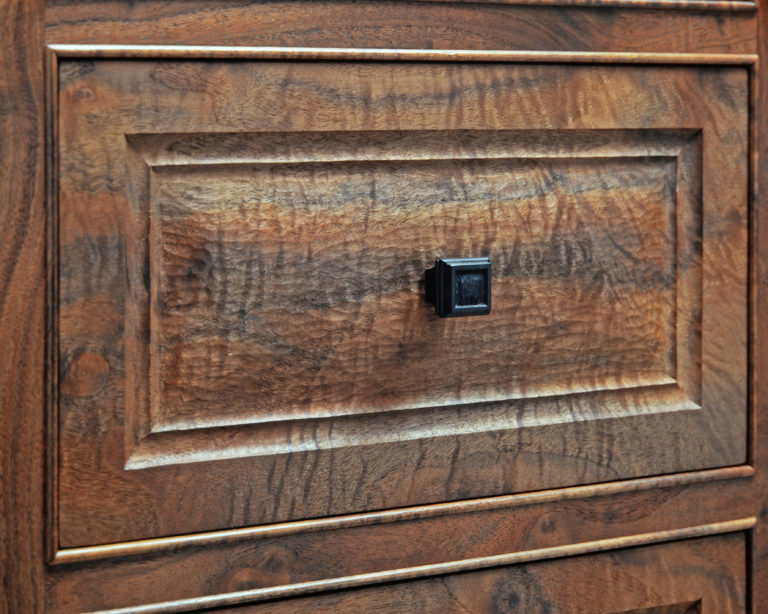 California Walnut Chest Detail