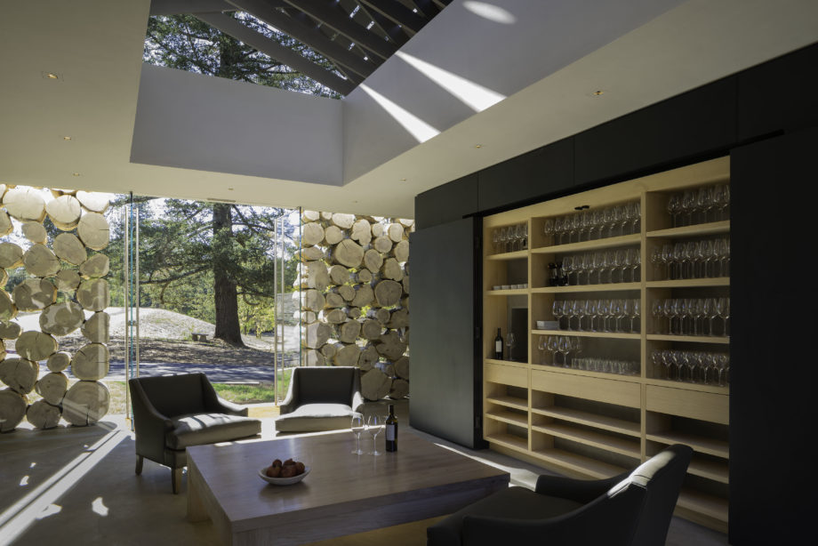 Adamvs Tasting Room Wood Wall Custom designed