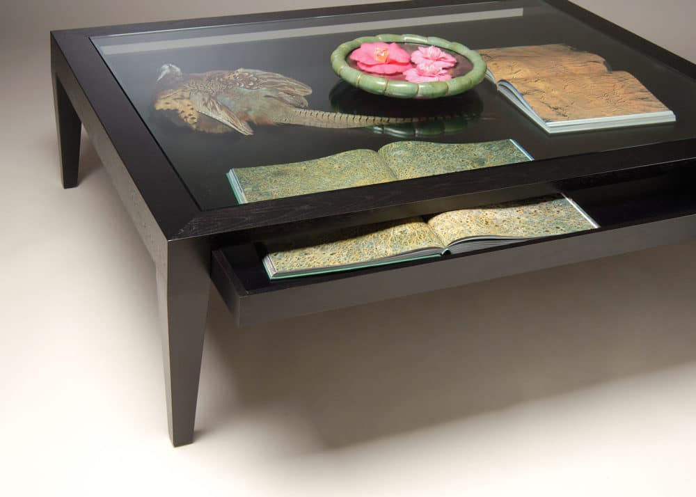 Gregory Hay Designs Glass Top Coffee Table