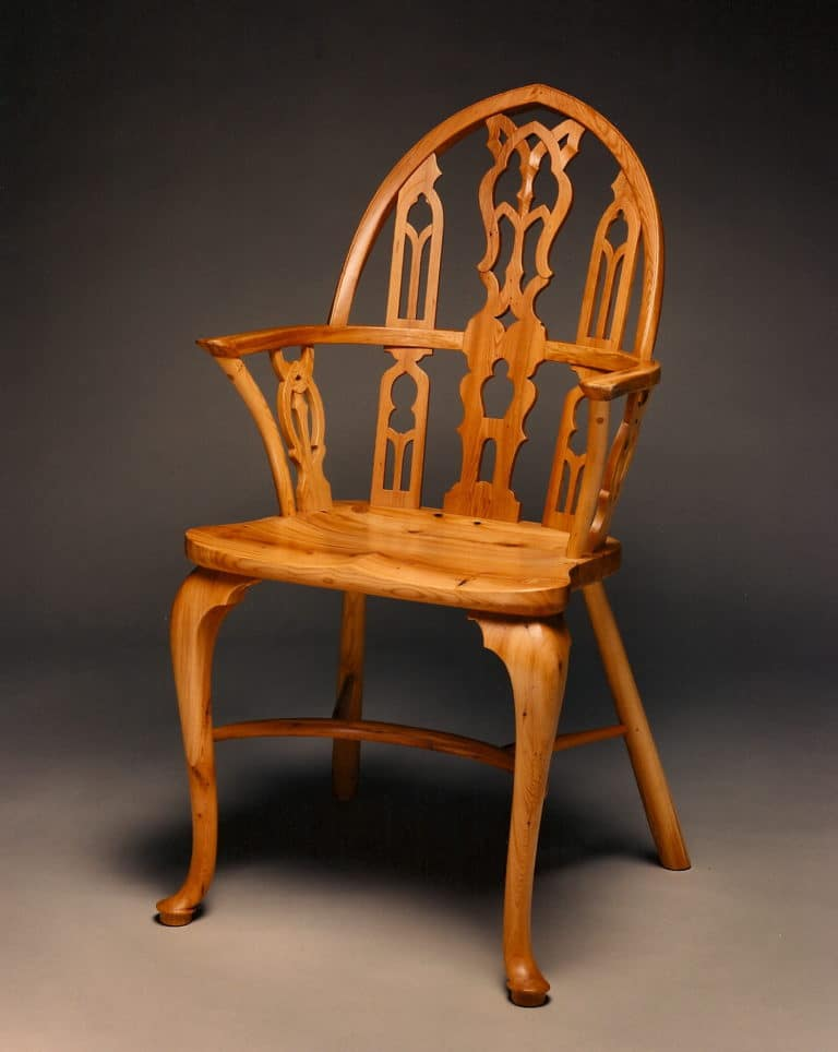 Gregory Hay Designs Gothic Windsor Chair in Yew