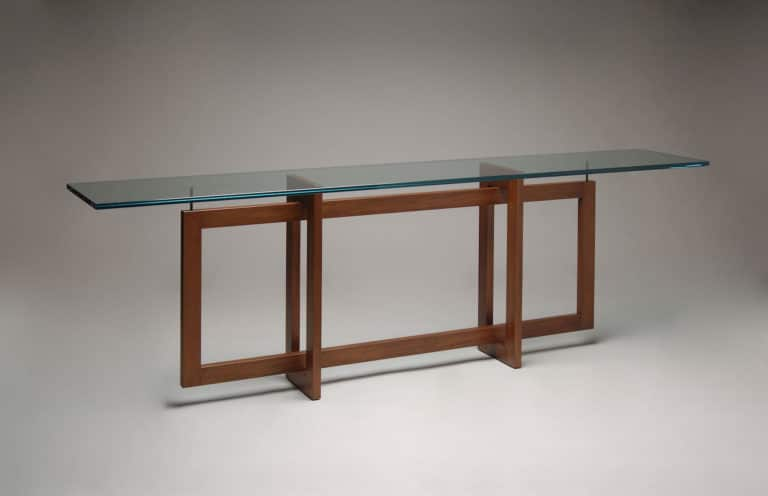 Gregory Hay Designs Modern Console Table in Mahogany
