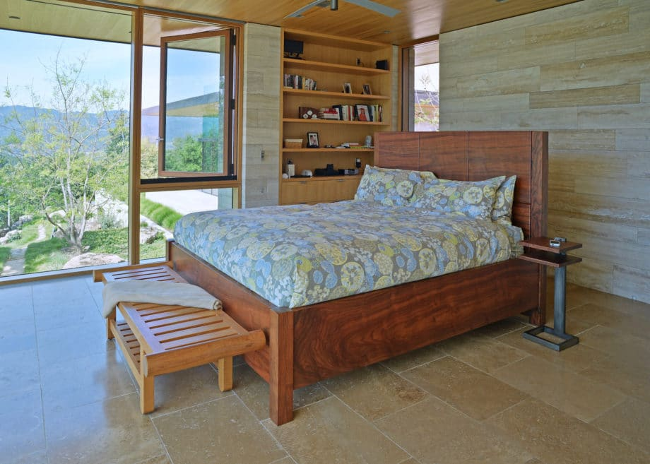 Gregory Hay Designs Walnut Bed and Nightstands
