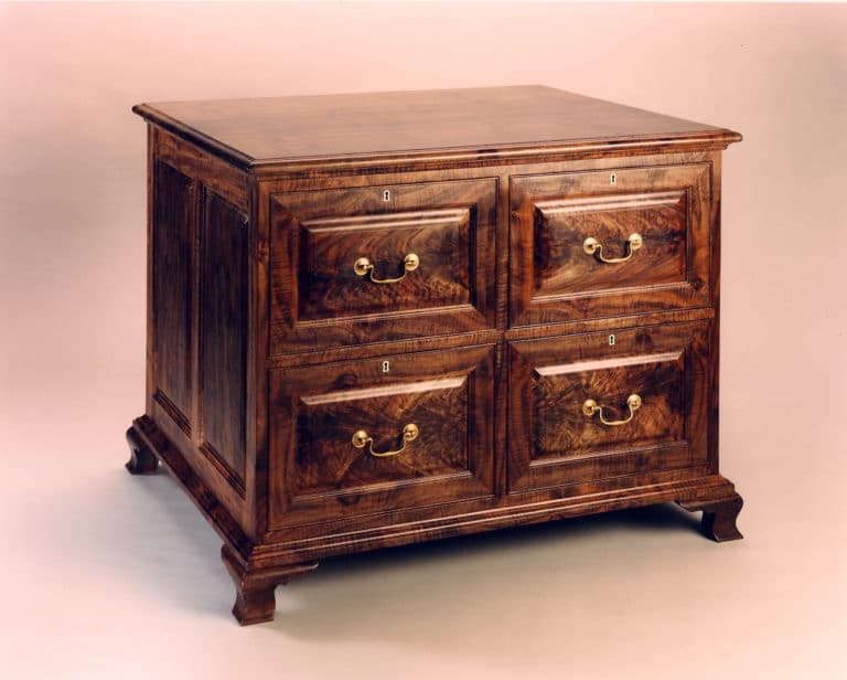 Gregory Hay Designs Traditional Style File Cabinet in Claro Walnut